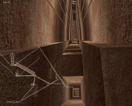 Visitez la grande pyramide en 3d comme dans un jeu vid o for Inside l interieur